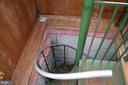 Spiral staircase to basement - 5420 BURKITTSVILLE RD, JEFFERSON