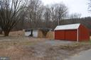 Two car detached garage with extra storage - 5420 BURKITTSVILLE RD, JEFFERSON