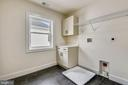 Laundry Room has Hook-ups, Utility Sink & Cabinets - 18609 STRAWBERRY KNOLL RD, GAITHERSBURG