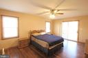 Roomy Master Bedroom w/Patio Drs to Screened Porch - 117 GREEN ST, LOCUST GROVE