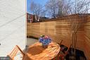 Functional rear patio w 6' cedar fence - 1015 D ST NE #2, WASHINGTON