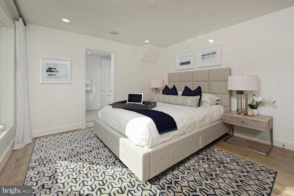Master bedroom suite w large walk-in closet - 1015 D ST NE #B, WASHINGTON
