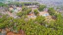 Overhead rear view of 5 acres - 10101 OLDE KENT DR, SPOTSYLVANIA
