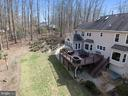 Aerial of rear yard - 12400 FAIRFAX STATION RD, CLIFTON