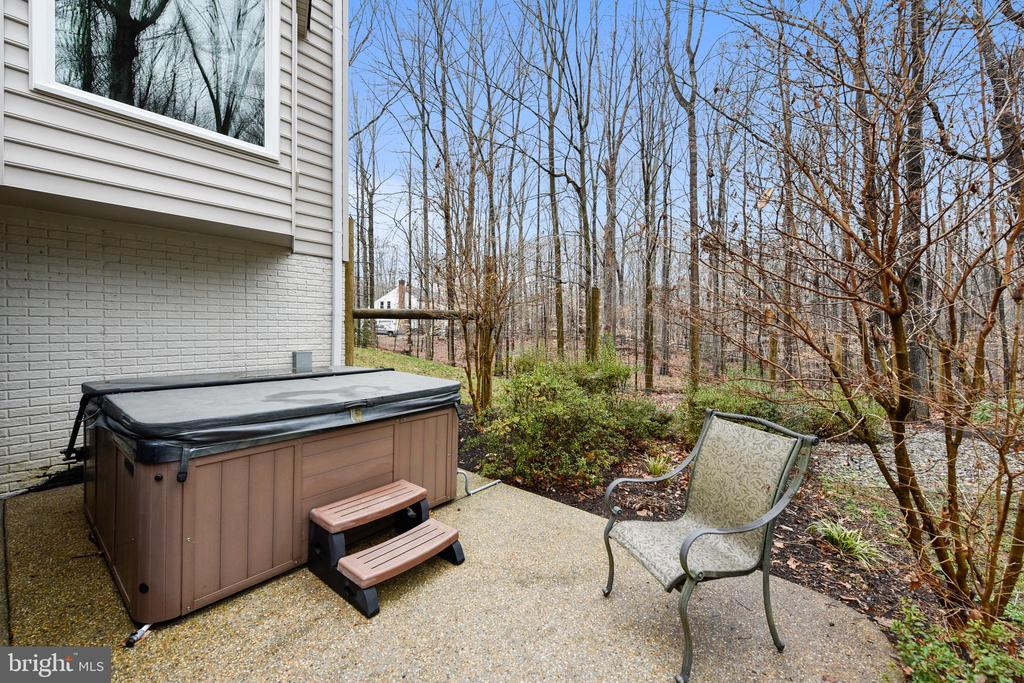 Hot tub on the lower level patio - 12400 FAIRFAX STATION RD, CLIFTON