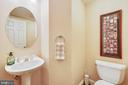 Main level half bath - 12400 FAIRFAX STATION RD, CLIFTON