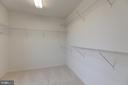 Master Bedroom 2 Walk-in Closet #2 - 6317 ZEKAN LN, SPRINGFIELD