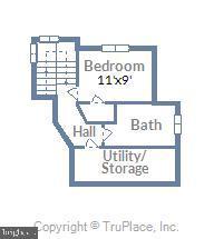 Upper level 2 floor plan - 212 GOODALE RD, BALTIMORE