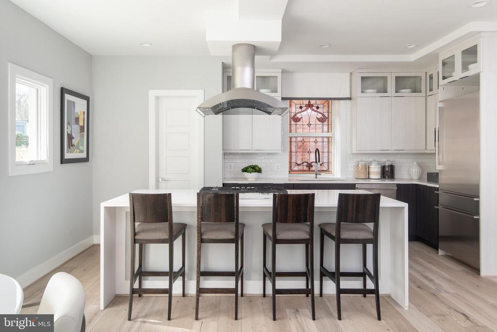 Prof'l appliances, waterfall tops, walk-in pantry - 1015 D ST NE #B, WASHINGTON