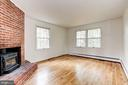 Family Room with Wood Burning Insert - 12901 JESSE SMITH RD, MOUNT AIRY