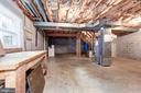 Unfinished basement with potential! - 12901 JESSE SMITH RD, MOUNT AIRY