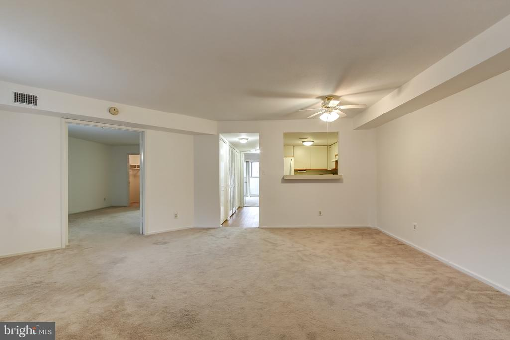 From Living Room to  Pass-Through in Kitchen - 1951 SAGEWOOD LN #203, RESTON