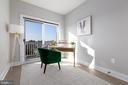 Bedroom # 2 as office w/ balcony - 2812 GEORGIA AVE NW #9, WASHINGTON