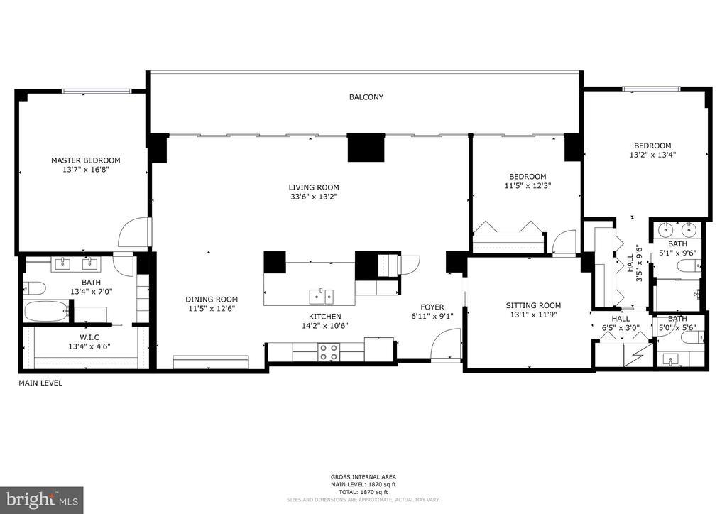 2,172 square feet - 250 S REYNOLDS ST #1307, ALEXANDRIA