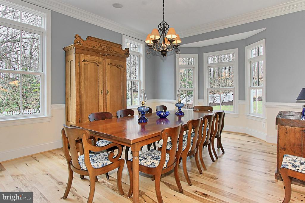 Dining Room with Hickory Hardwood Floors - 7380 CLIFTON RD, CLIFTON