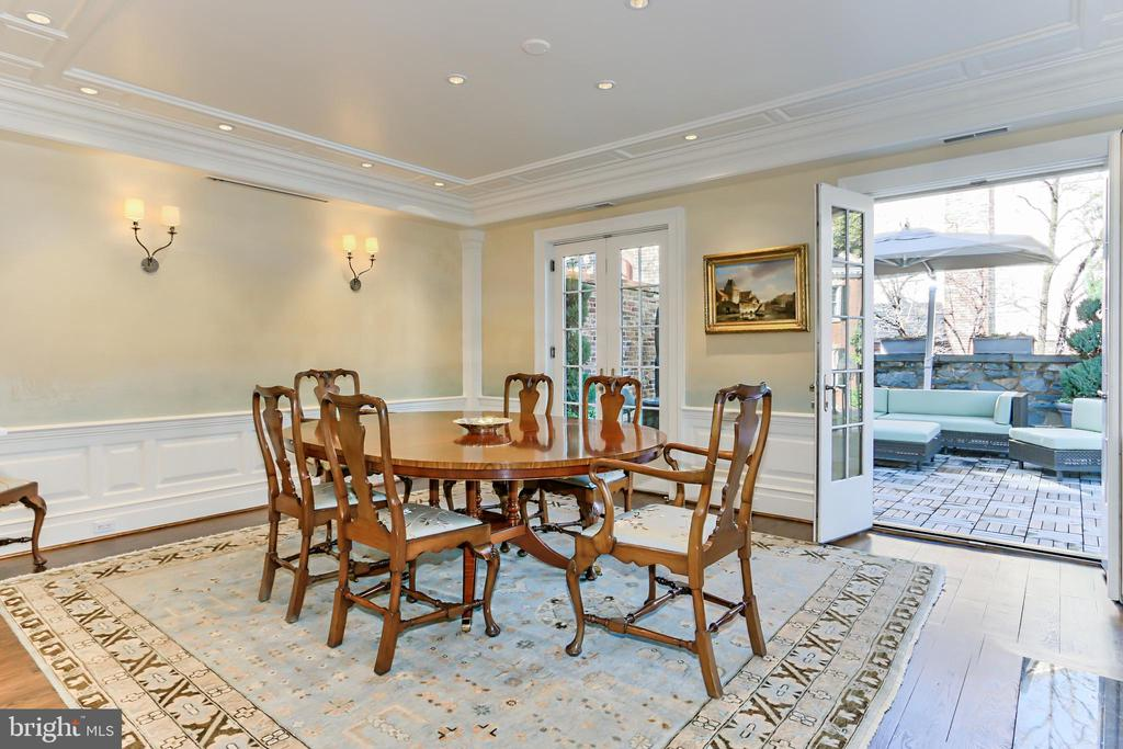 Grand Formal Dining Room with Fireplace - 1400 34TH ST NW, WASHINGTON