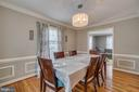 Formal Dining Room: Crown Molding, Chair Rail - 15805 DICKERSON PL, DUMFRIES