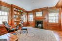 Custom Library with Powder Room - 1400 34TH ST NW, WASHINGTON
