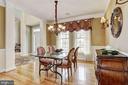 Formal Dining Room - 8600 RIVER GLADE RUN, LAUREL