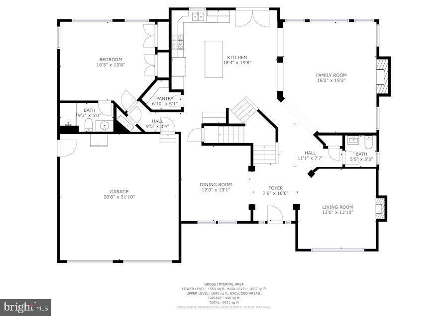 Floor Plan - 8600 RIVER GLADE RUN, LAUREL