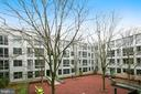 Winter courtyard view from unit - 4101 ALBEMARLE ST NW #447, WASHINGTON