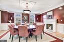 Formal Dining Room with Fireplace - 1128 ASQUITH DR, ARNOLD