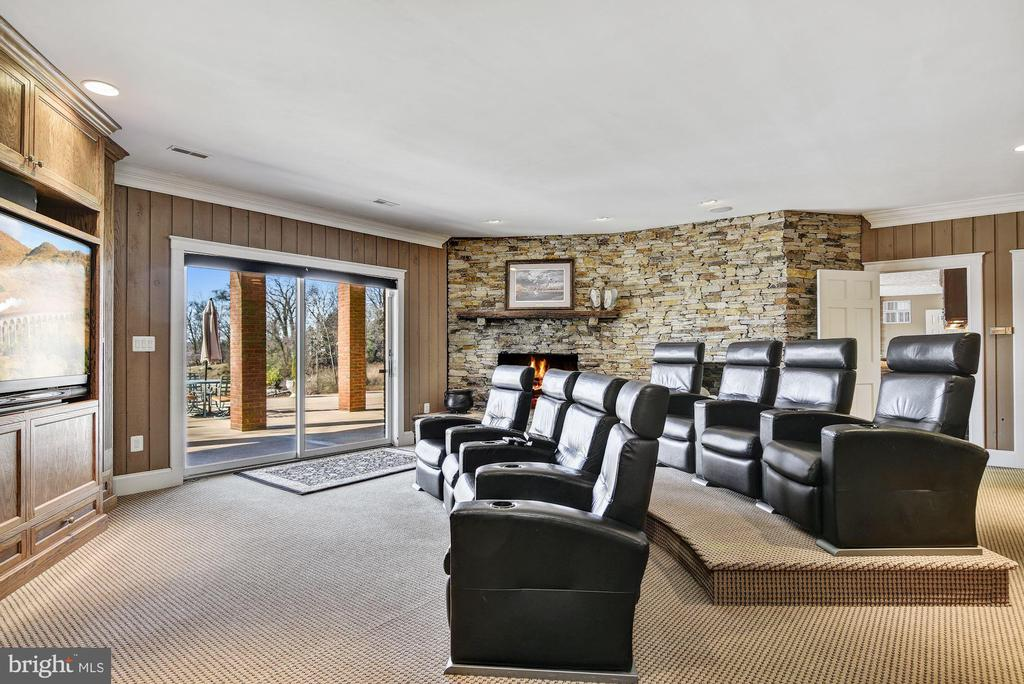 Theater Room w/ Black-out Shades in UP Position - 1128 ASQUITH DR, ARNOLD
