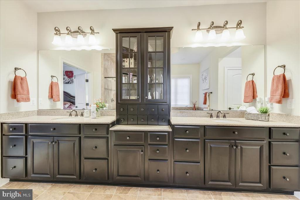 Custom cabinetry in master bath - 44306 KENTMERE CT, ASHBURN