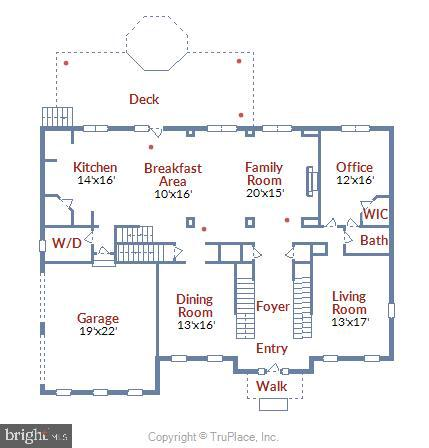 Main level floor plan - 44306 KENTMERE CT, ASHBURN