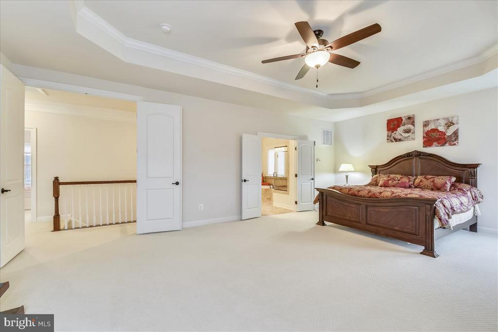 Master bedroom w/tray ceiling - 44306 KENTMERE CT, ASHBURN