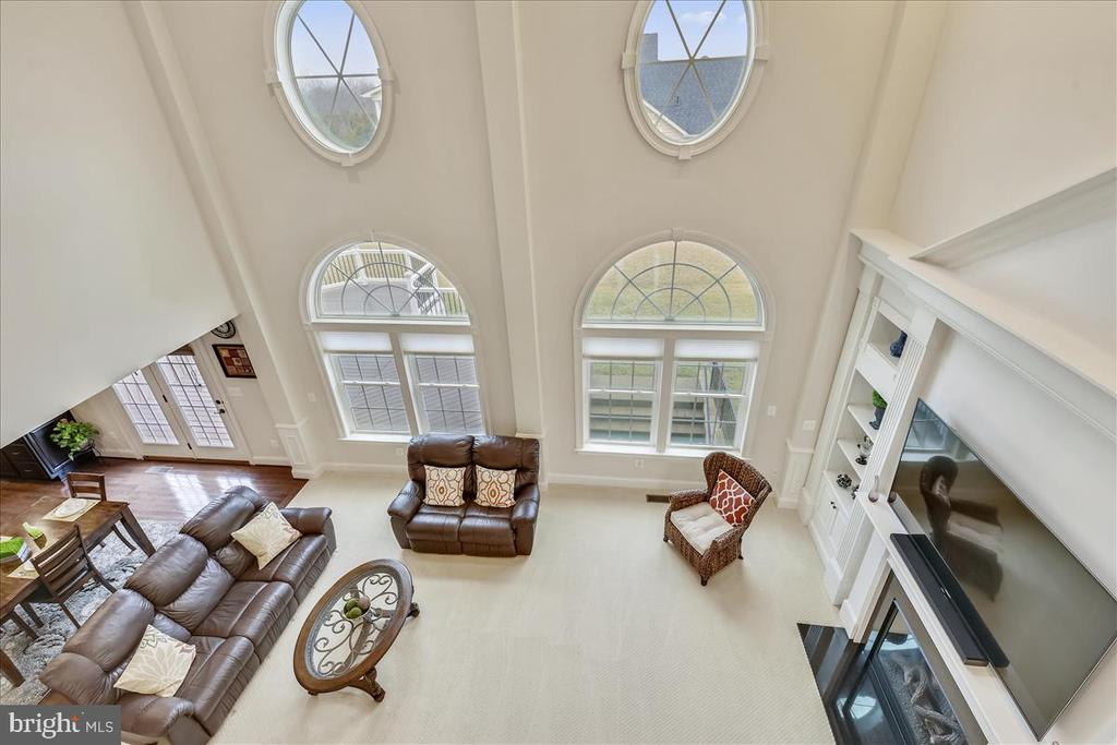 Family room from upper level - 44306 KENTMERE CT, ASHBURN