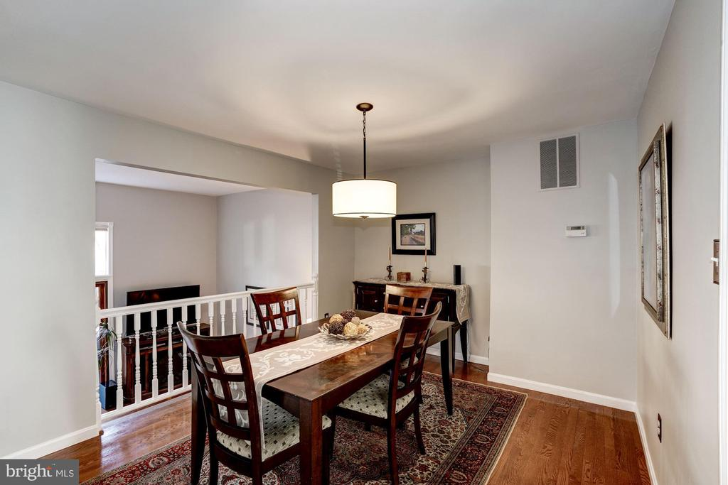 Dining room with hardwood floors - 2354 HORSEFERRY CT, RESTON