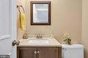 1/2 bath on lower level - 9 BROOKMEADE CT, STERLING