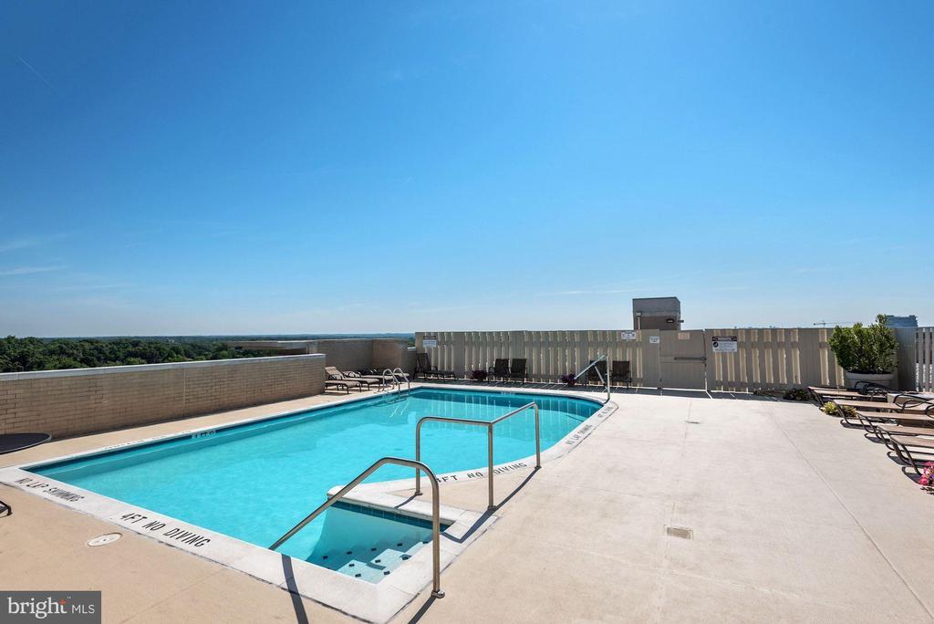 Rooftop Pool - 11800 SUNSET HILLS RD #1108, RESTON