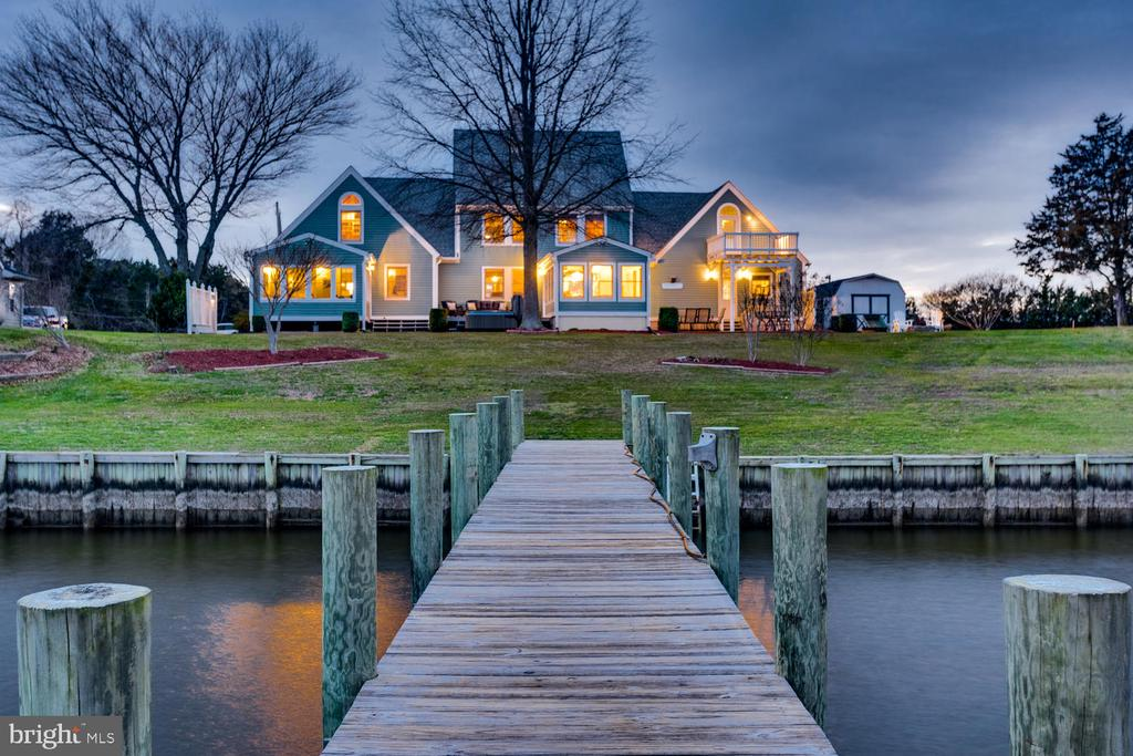 View of home from the pier - 15798 LANCASTER FARM RD, NEWBURG