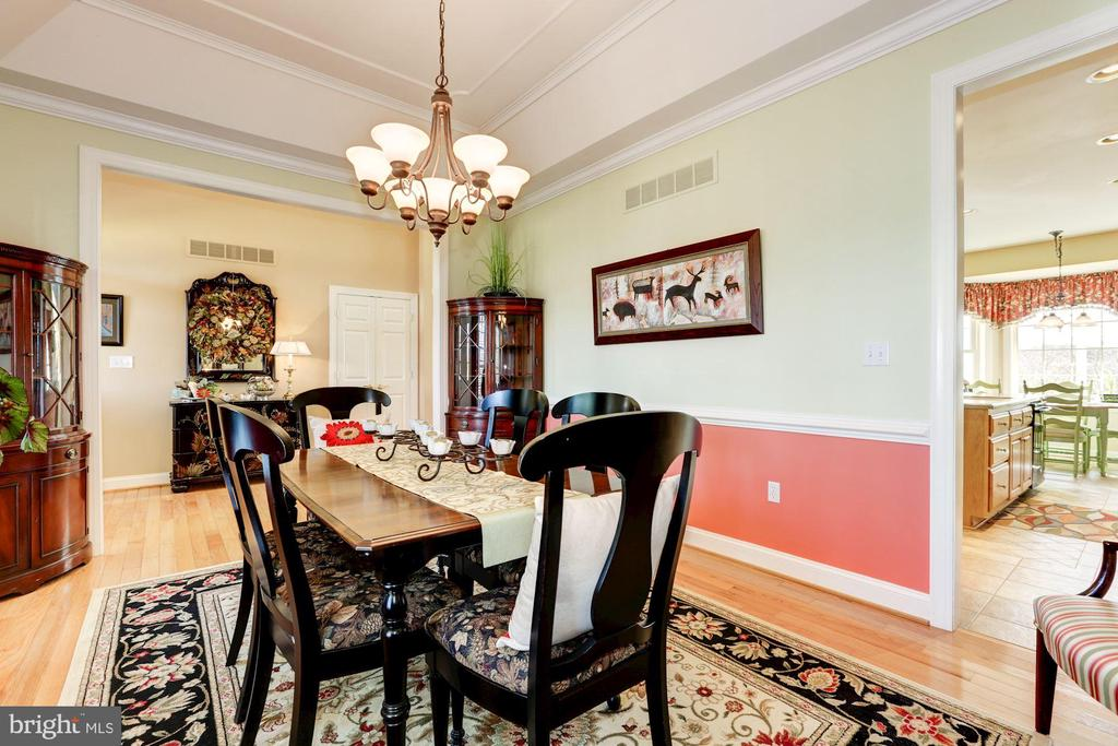 View toward the foyer main level - 2407 FLAG MARSH RD, MOUNT AIRY