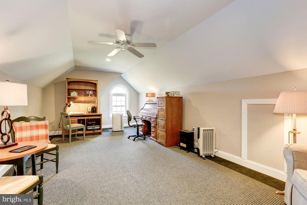 Bonus room above the garage used as an office - 2407 FLAG MARSH RD, MOUNT AIRY