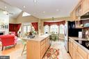 Kitchen has an island - 2407 FLAG MARSH RD, MOUNT AIRY