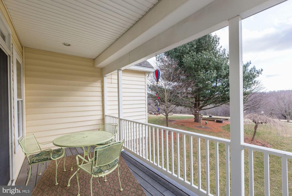 Great deck view to the left - 2407 FLAG MARSH RD, MOUNT AIRY