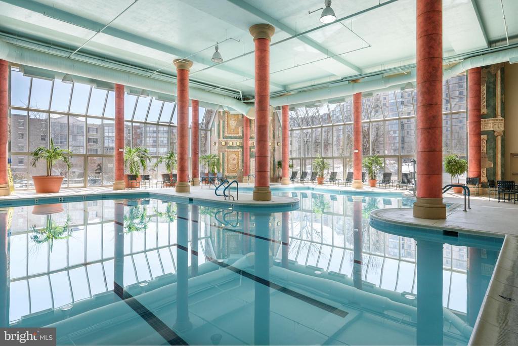 Indoor Pool at LW Clubhouse - 19375 CYPRESS RIDGE TER #602, LEESBURG