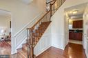 Beautiful foyer with wainscoting - 118 NORTHAMPTON BLVD, STAFFORD