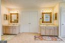 Dual vanities flank double doors to master suite - 118 NORTHAMPTON BLVD, STAFFORD