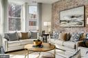 Exposed brick wall - 1745 N ST NW #210, WASHINGTON