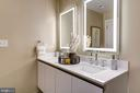 Dual vanity, luxury bath - 1745 N ST NW #210, WASHINGTON