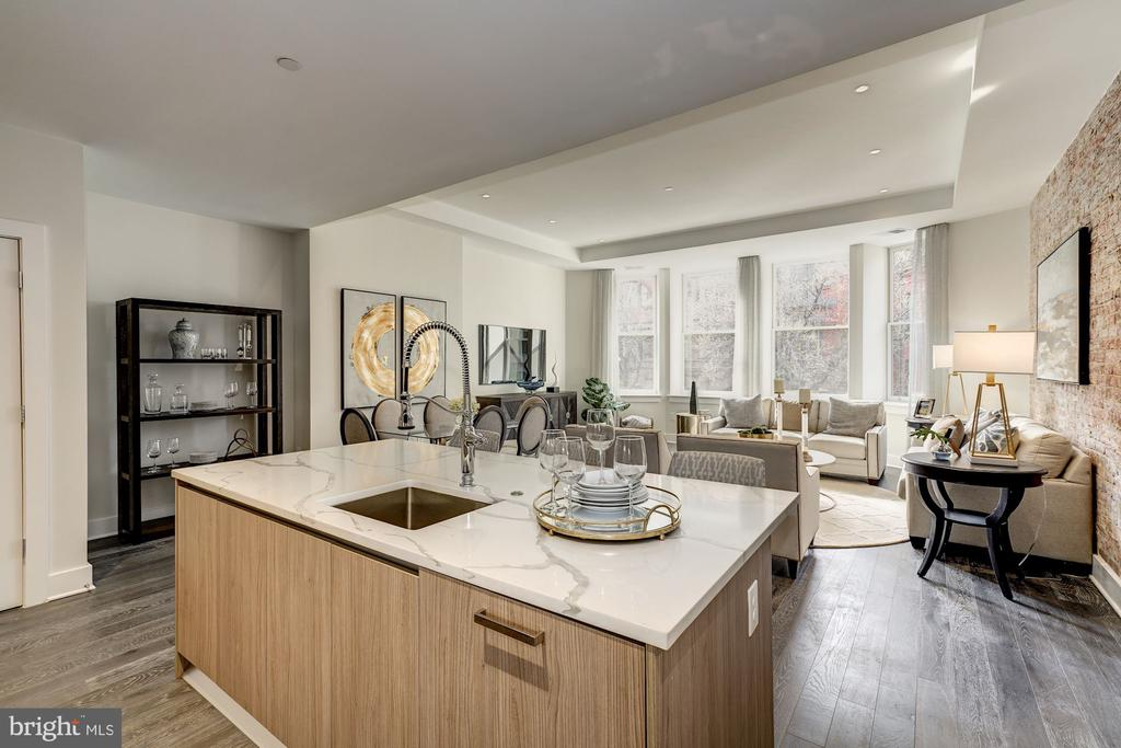 Open floor plan, cherry tree views - 1745 N ST NW #210, WASHINGTON