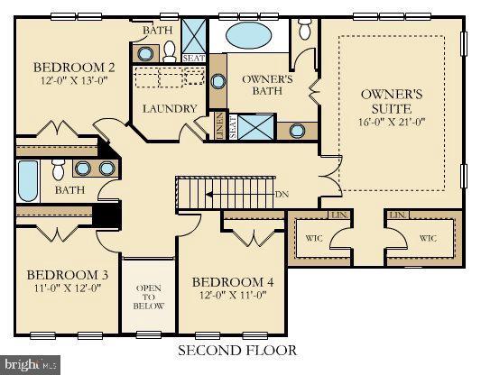 Diagram for upper level space - 6109 HUNT WEBER DR, CLINTON