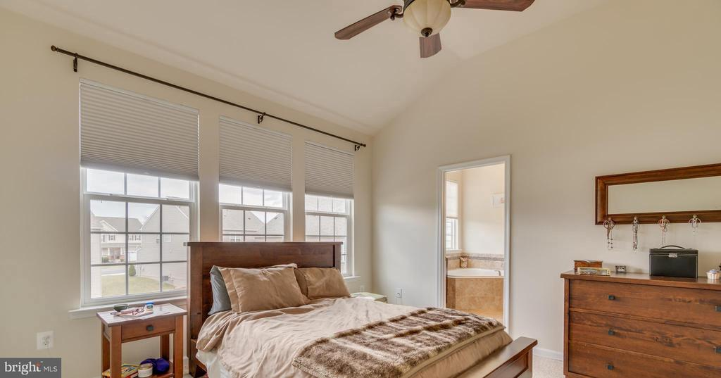 Master Bedroom with Cathedral Ceiling - 8 LAMPLIGHTER LN, STAFFORD