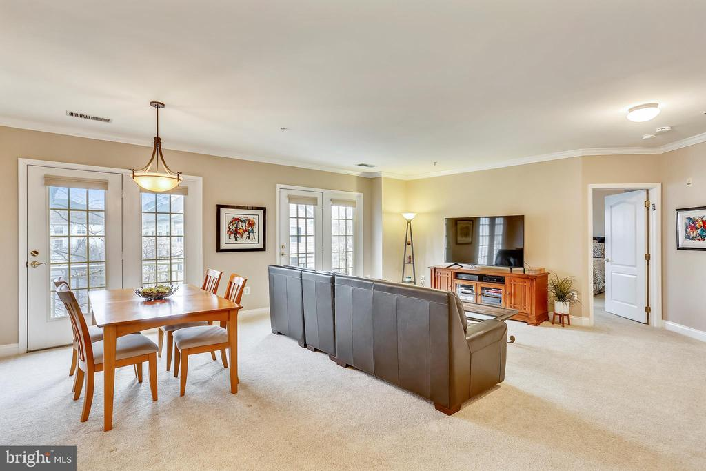 Open Living Room Dining room Area - 802 GRAND CHAMPION DR #11-302, ROCKVILLE
