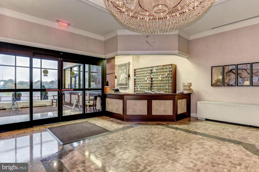 North Lobby, 24 hour desk with attendant - 5500 FRIENDSHIP BLVD #1604N, CHEVY CHASE