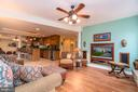 Huge Great Room with Gas Fireplace in Basement - 11519 GENERAL WADSWORTH DR, SPOTSYLVANIA